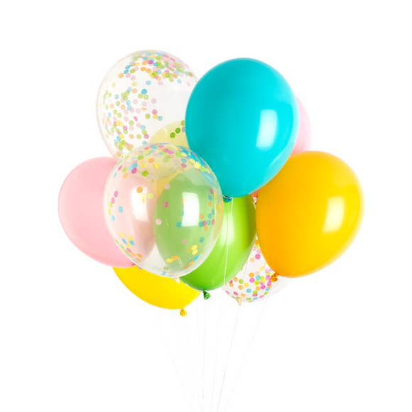 Happy Classic Balloons (12 Pack)