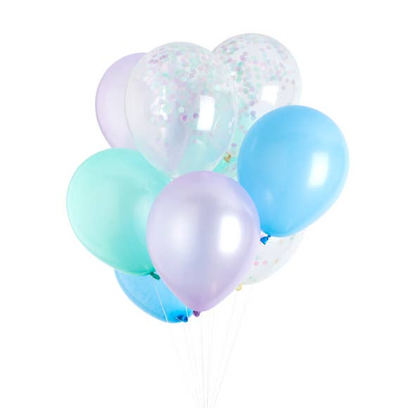 Mermaid Classic Balloons (12 Pack)