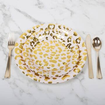 8pc Small Cheetah Paper Plate