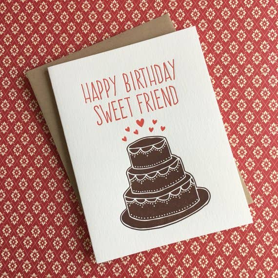 buy letterpress birthday card