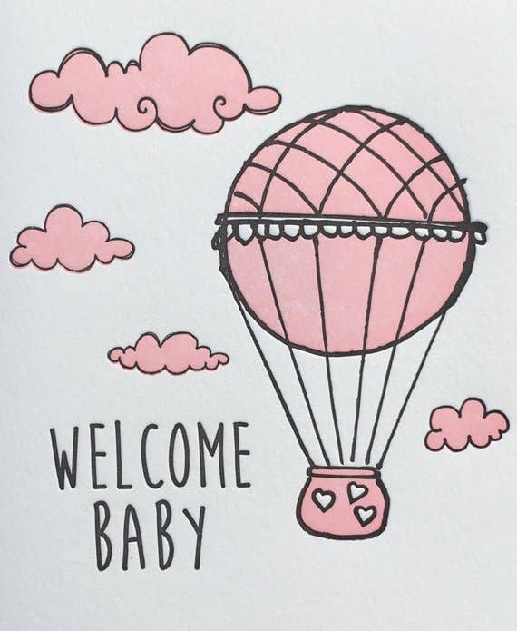 Lucky Bee Press - Welcome Baby Balloon