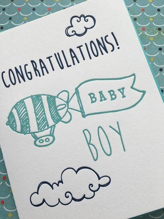 buy blimp baby boy card