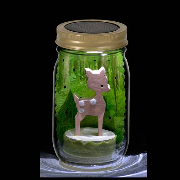 Fawn Mason Jar Solar Light