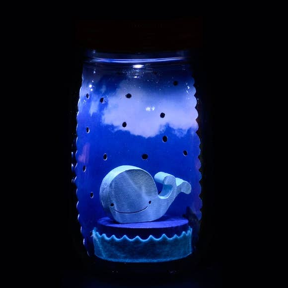 Whale Mason Jar Solar Light