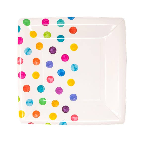 buy rainbow dot dessert plates
