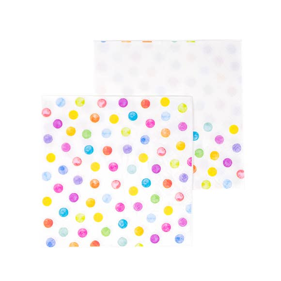 buy colorful dot cocktail napkins