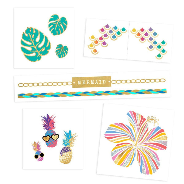 Flash Tattoos - Tropical Brights Variety Set