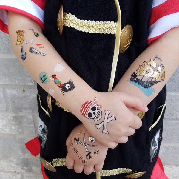 Flash Tattoos - Pirate Variety Set
