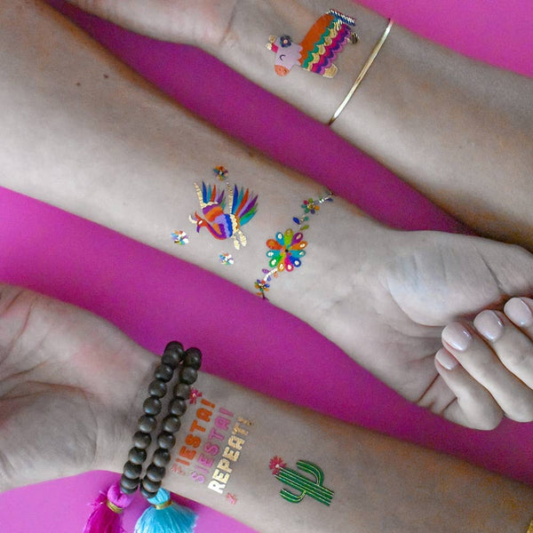 Flash Tattoos - Fiesta Fun Variety Set