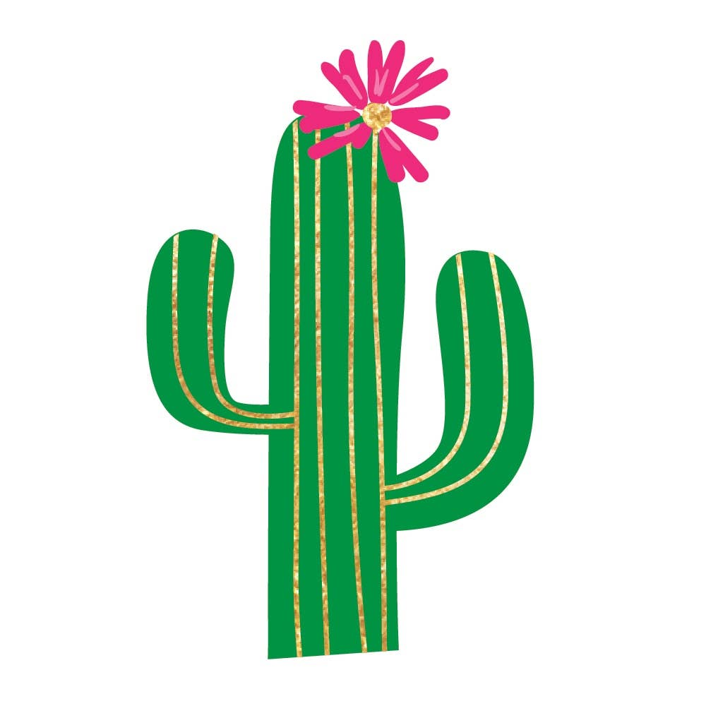 Flash Tattoos - Fiesta Cactus
