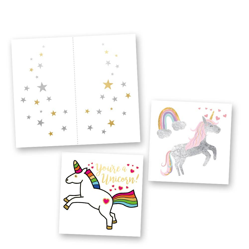 Flash Tattoos - Believe in Unicorns Mini Variety Set