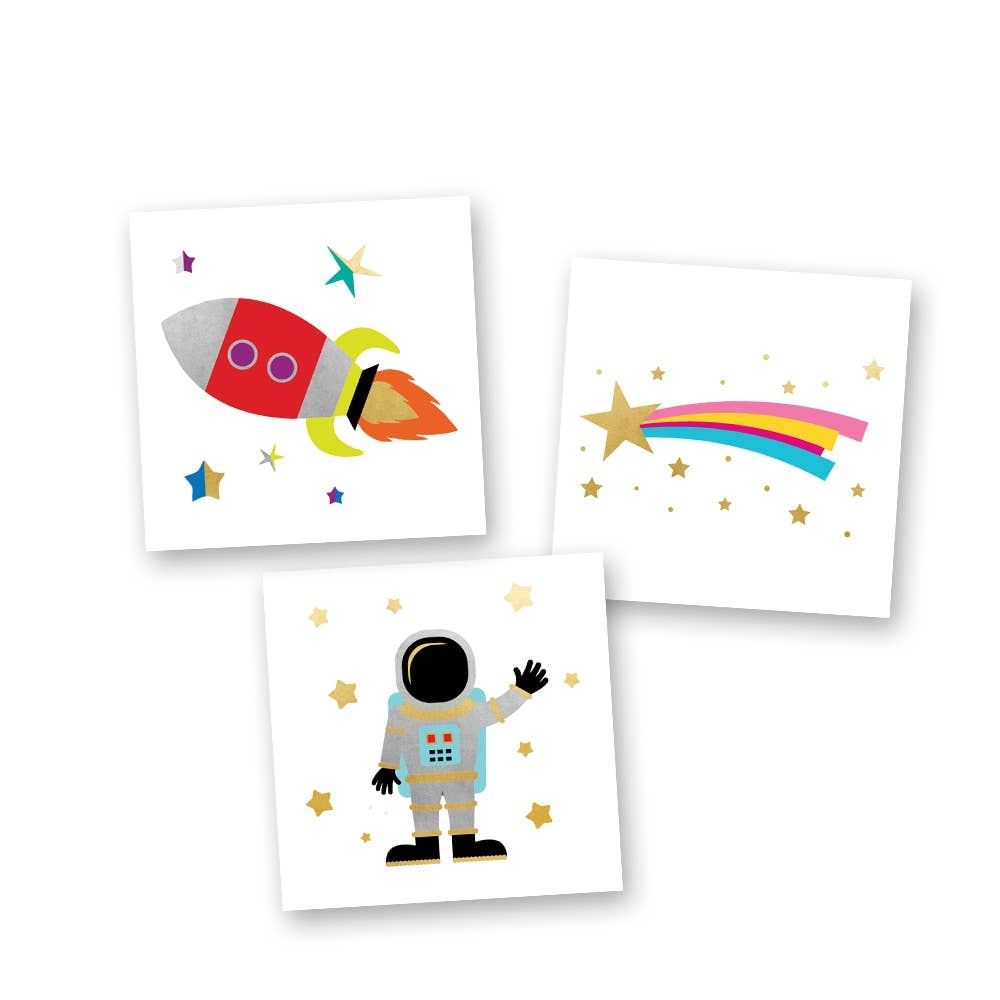 Flash Tattoos - Space Adventurer Mini Variety Set