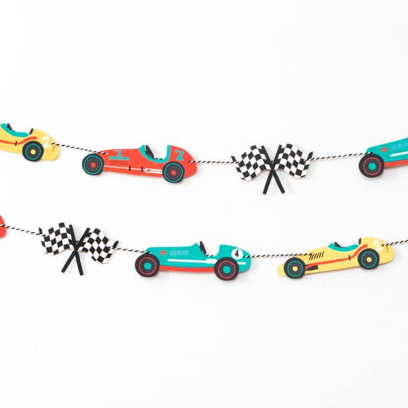 Vintage Race Car Garland
