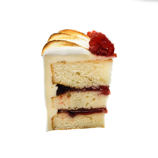 buy lemon raspberry cake with toasted meringue