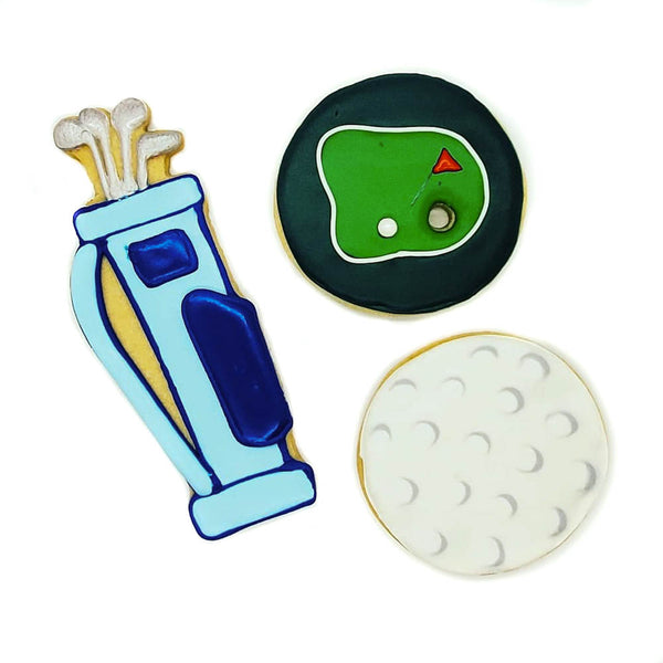 Golf Iced Shortbread Cookies