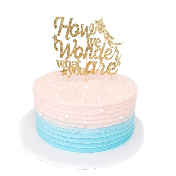 Gender Reveal Cake with blue or pink filling