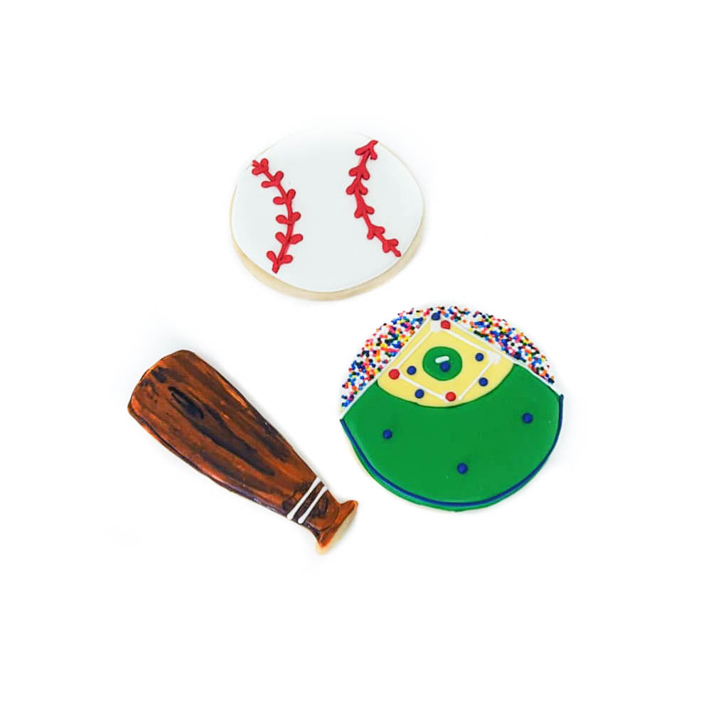 Baseball Iced Shortbread Cookies