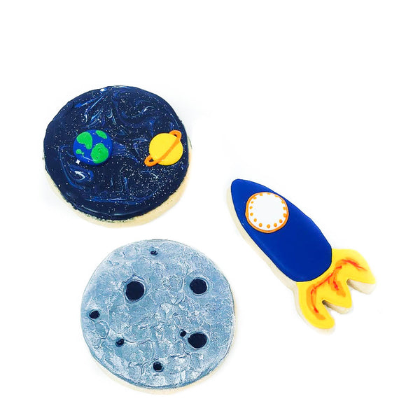 Space Iced Shortbread Cookies