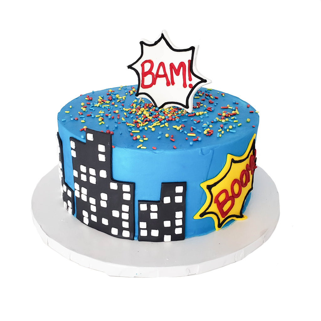 Astonishing Buy Superhero Birthday Cake Tart Bakery Dallas Personalised Birthday Cards Veneteletsinfo