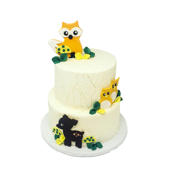 buy woodland creatures birthday cake1
