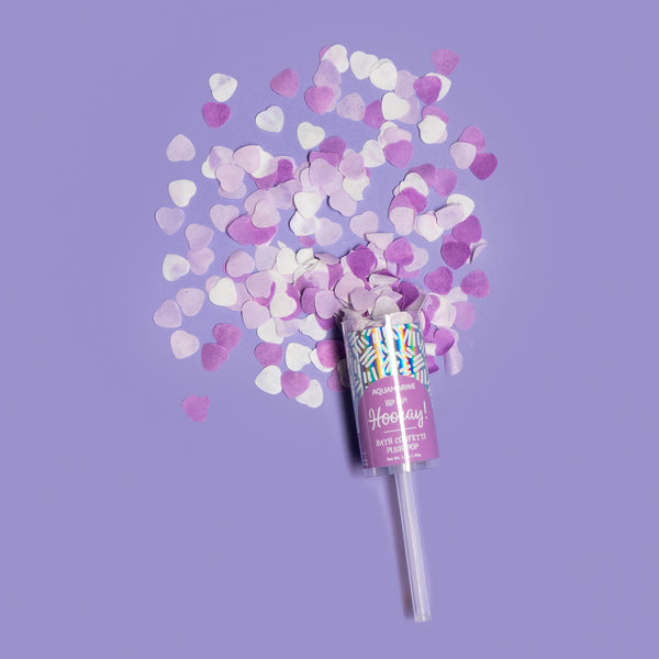 Hip Hip! Hooray! Bath Confetti Push Pop