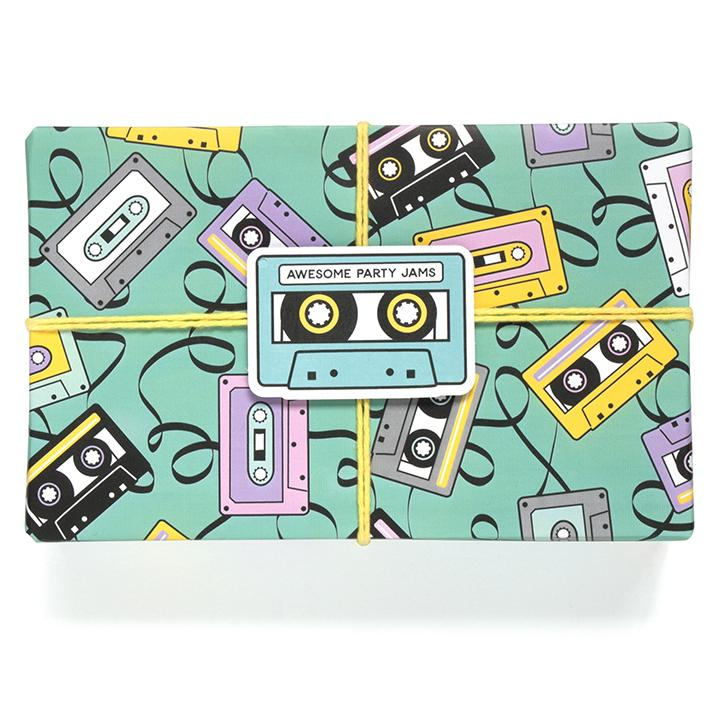 buy mix-tape gift wrapping paper