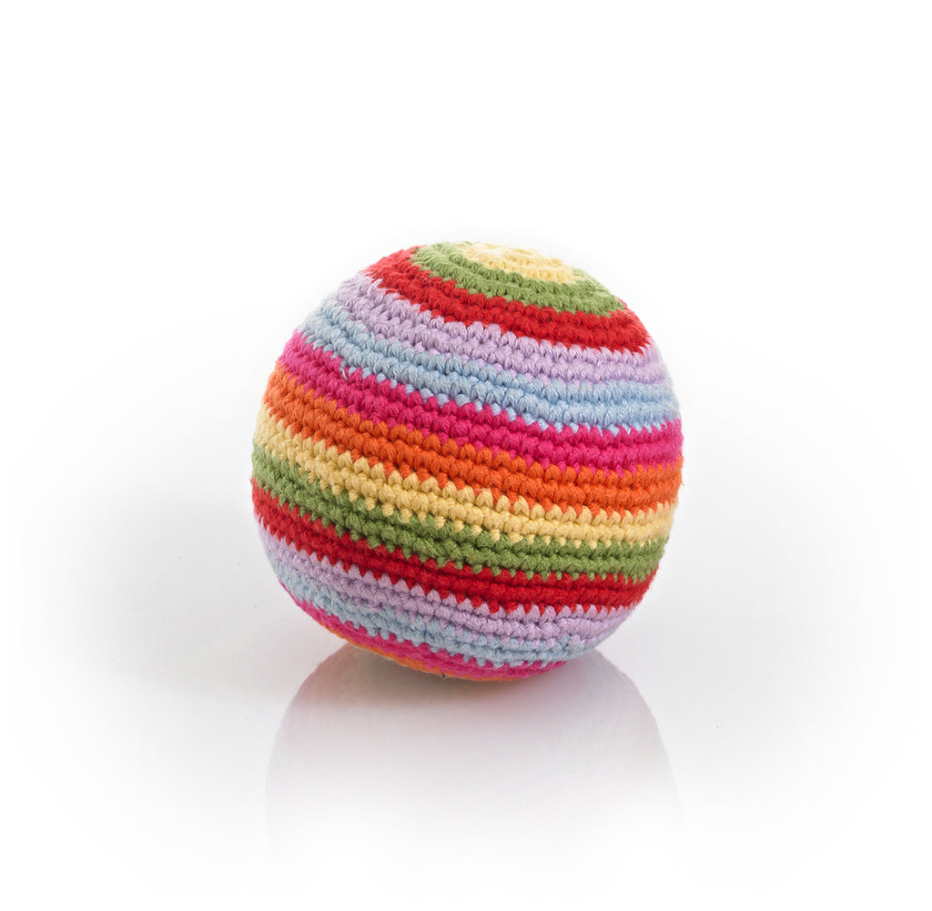 buy rainbow colored rattle ball