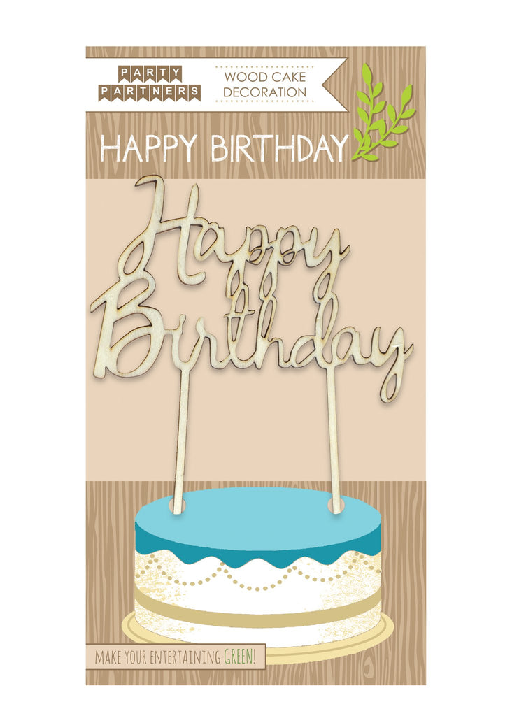 buy wooden happy birthday cake topper