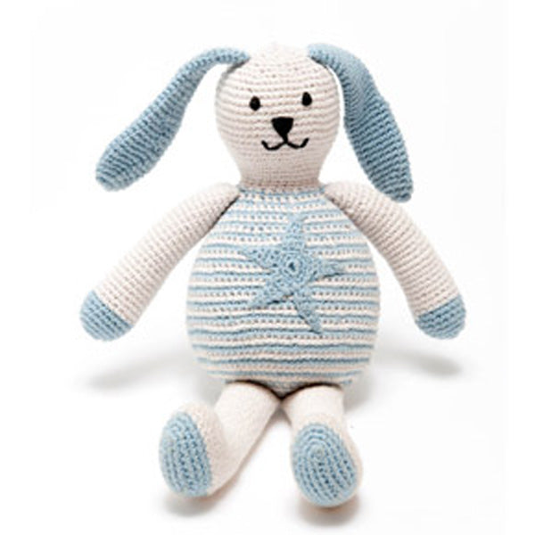 buy organic blue star motif bunny