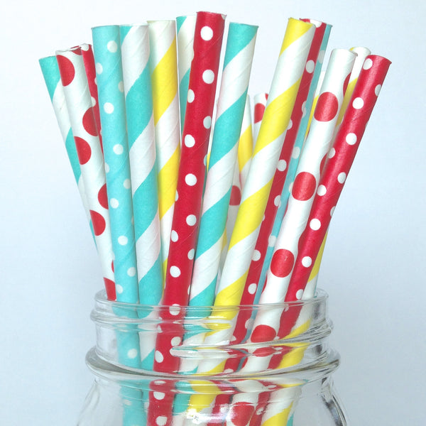 Carnival Paper Straws (25 pack)