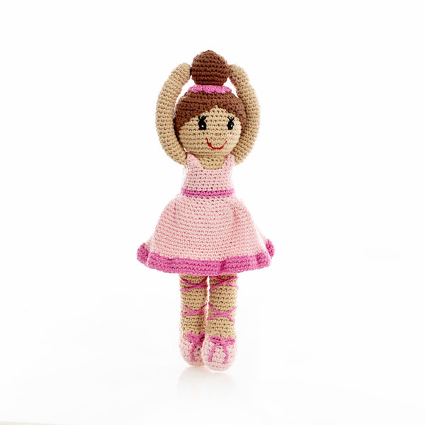buy pink story-time ballerina rattle