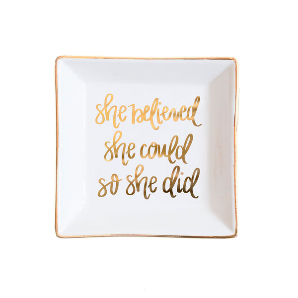 buy she believed she could white jewelry dish