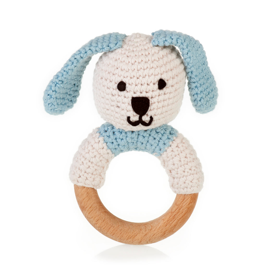 buy organic wooden teething ring bunny