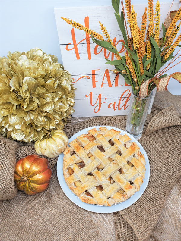Apple Lattice Pie - 9""