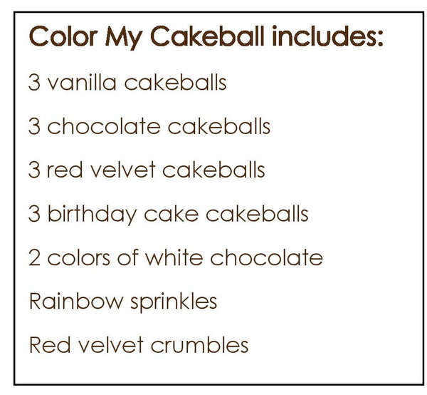 Color My Cakeball