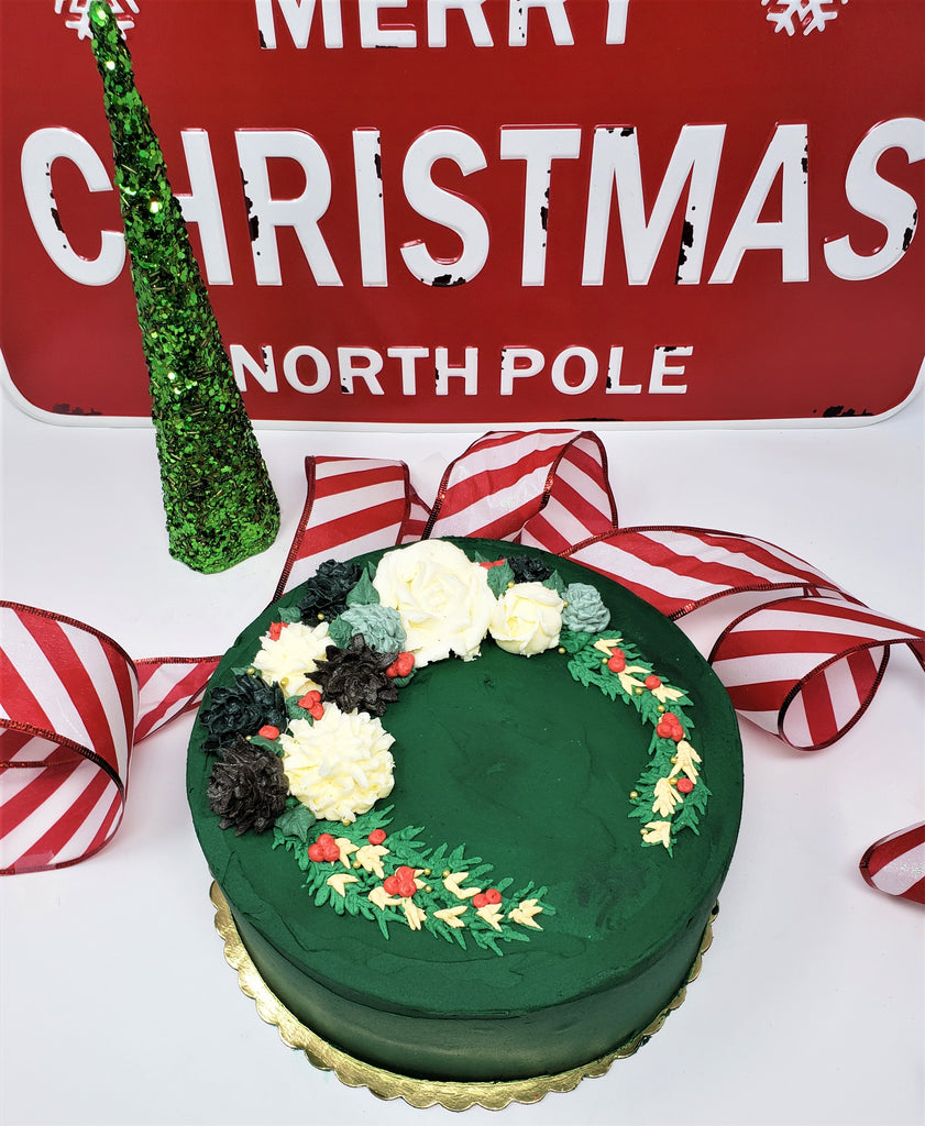 Holiday Cake - Emerald Forest