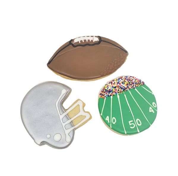 Football Cookies (Per 1/2 Dozen)