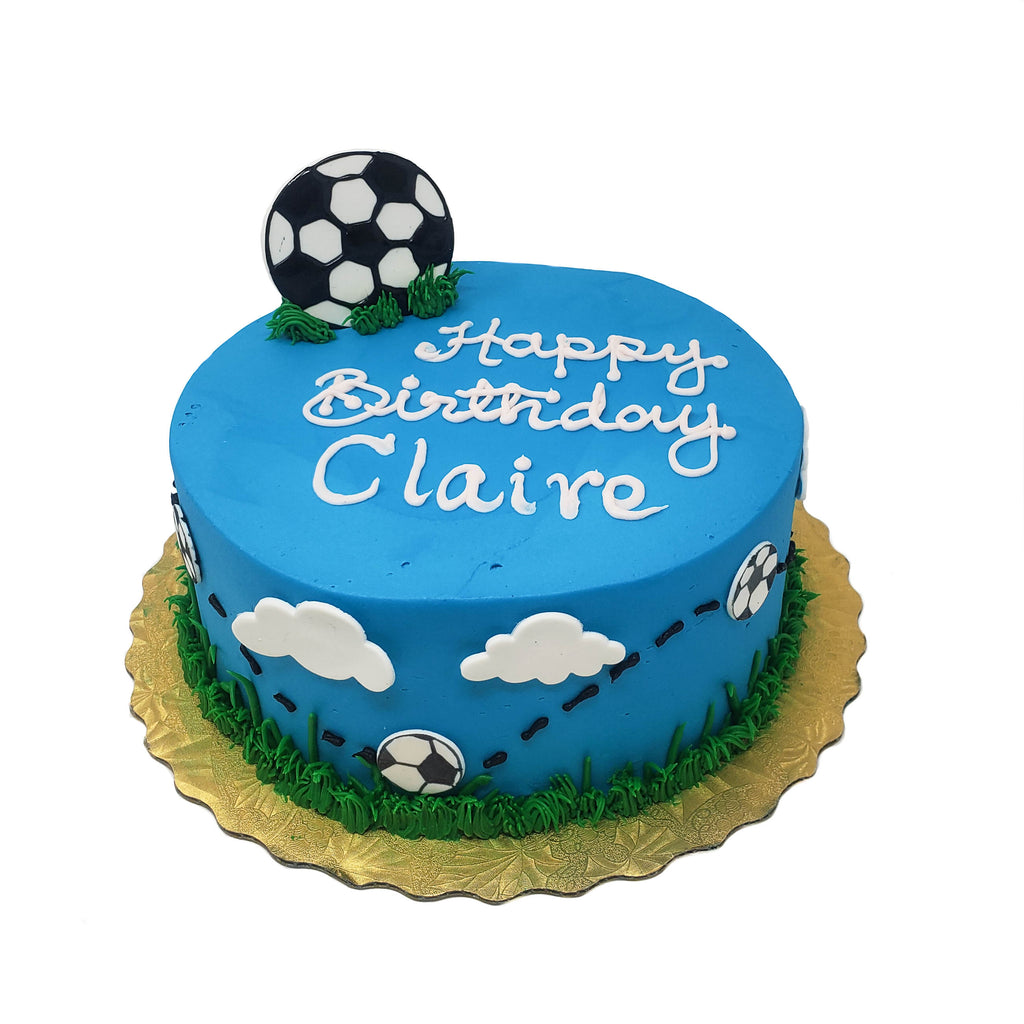buy soccer theme birthday cake