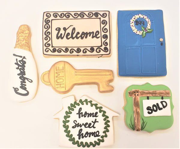 """Welcome Home"" Iced Shortbreads"