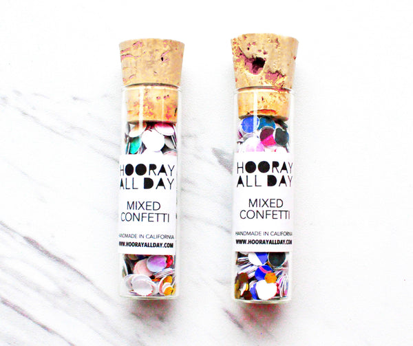 buy handcrafted mixed confetti in glass bottle