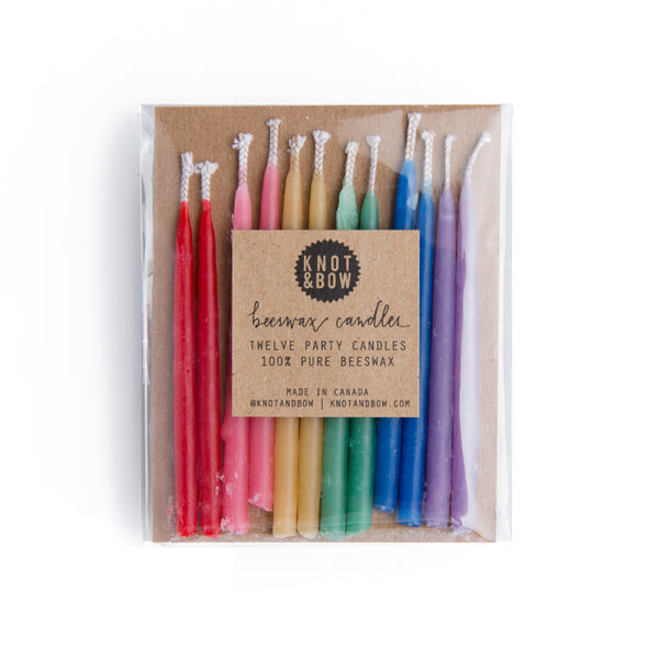 buy rainbow beeswax party candles