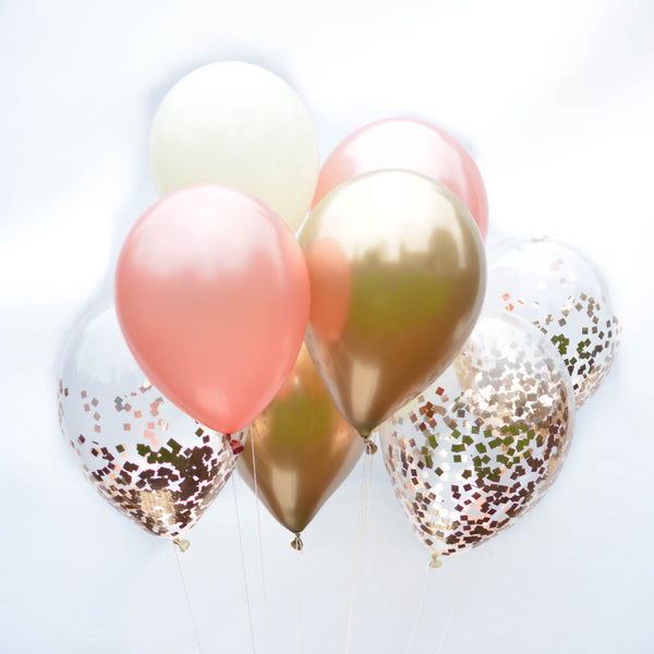 Blushing Rose Bouquet Balloons (9 Pack)