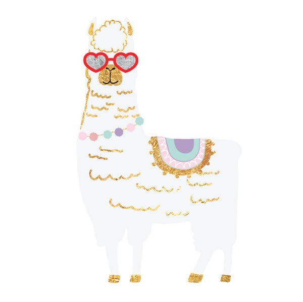 Flash Tattoos - Llama Love