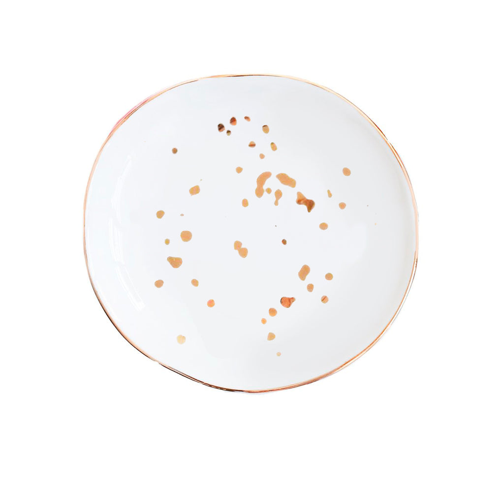 buy white gold speckled jewelry dish
