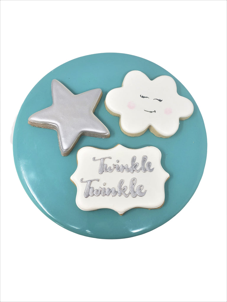 Twinkle Twinkle Little Boy Cookies (Per 1/2 Dozen)