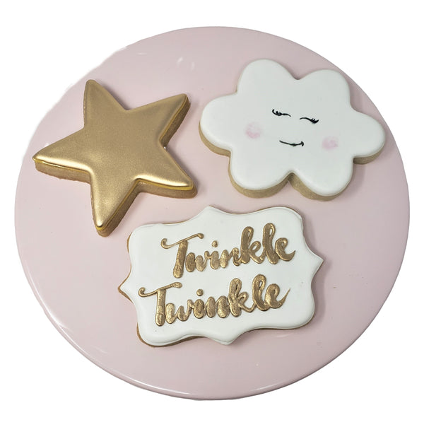 SHIP Twinkle Twinkle Baby Girl Cookies