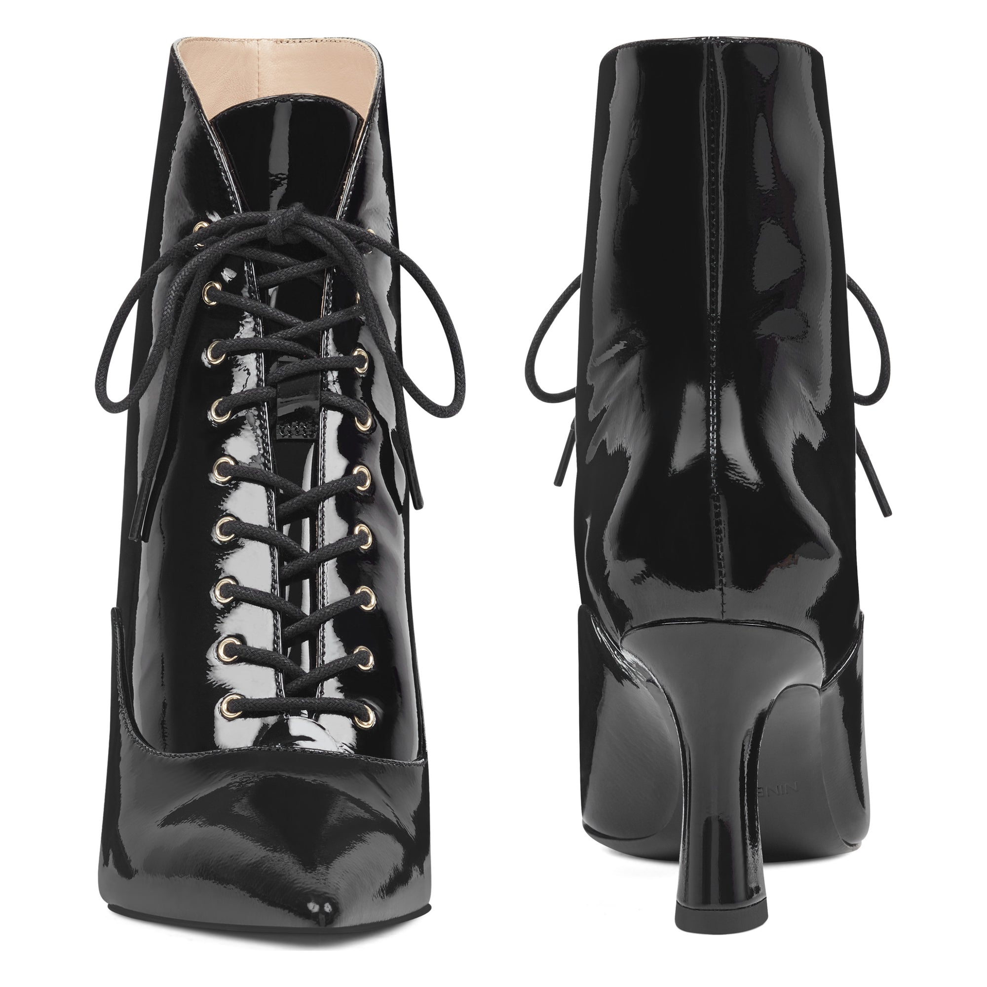 Callah Lace Up Booties - Nine West