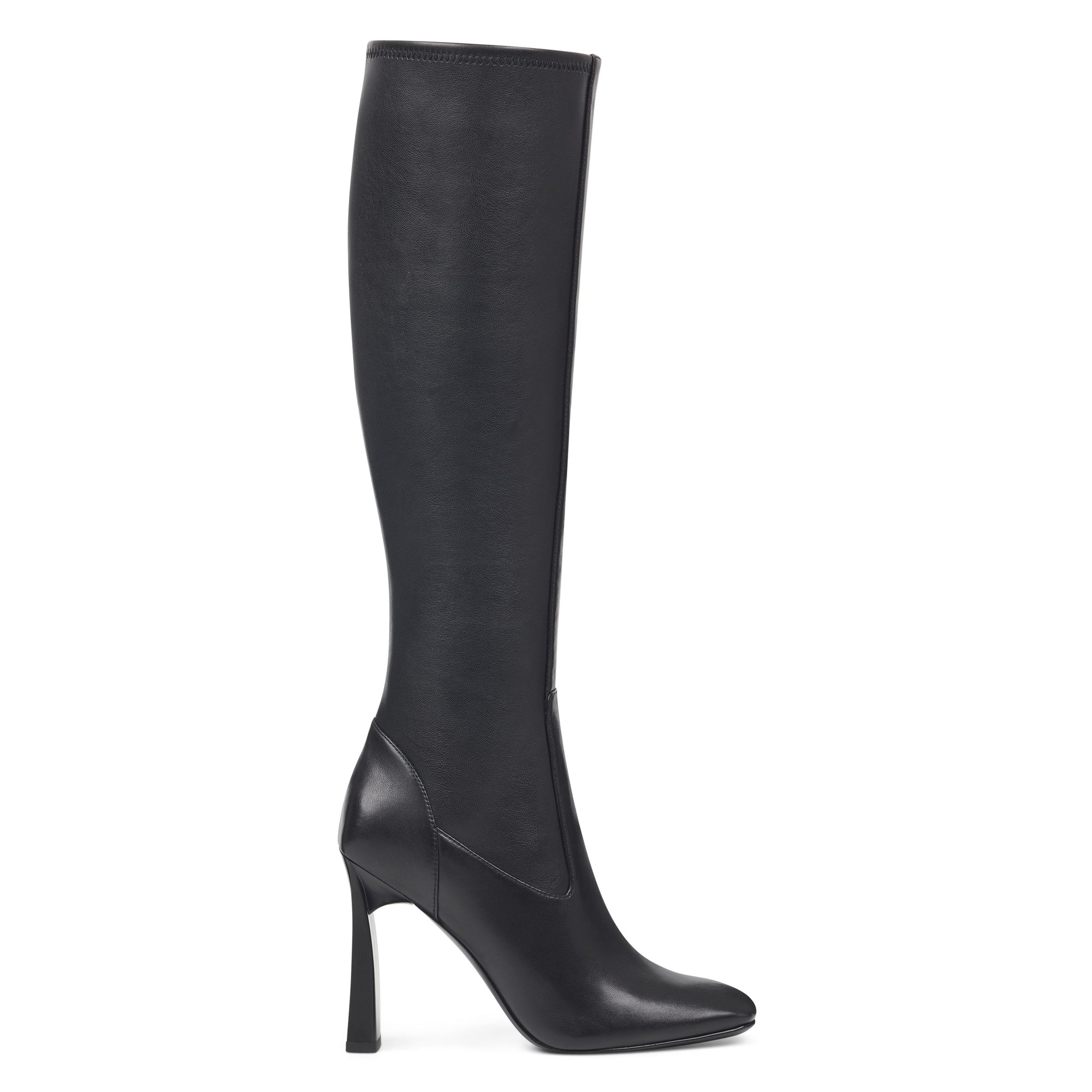 Nine West Women's Quincy Square Toe Leather Boots
