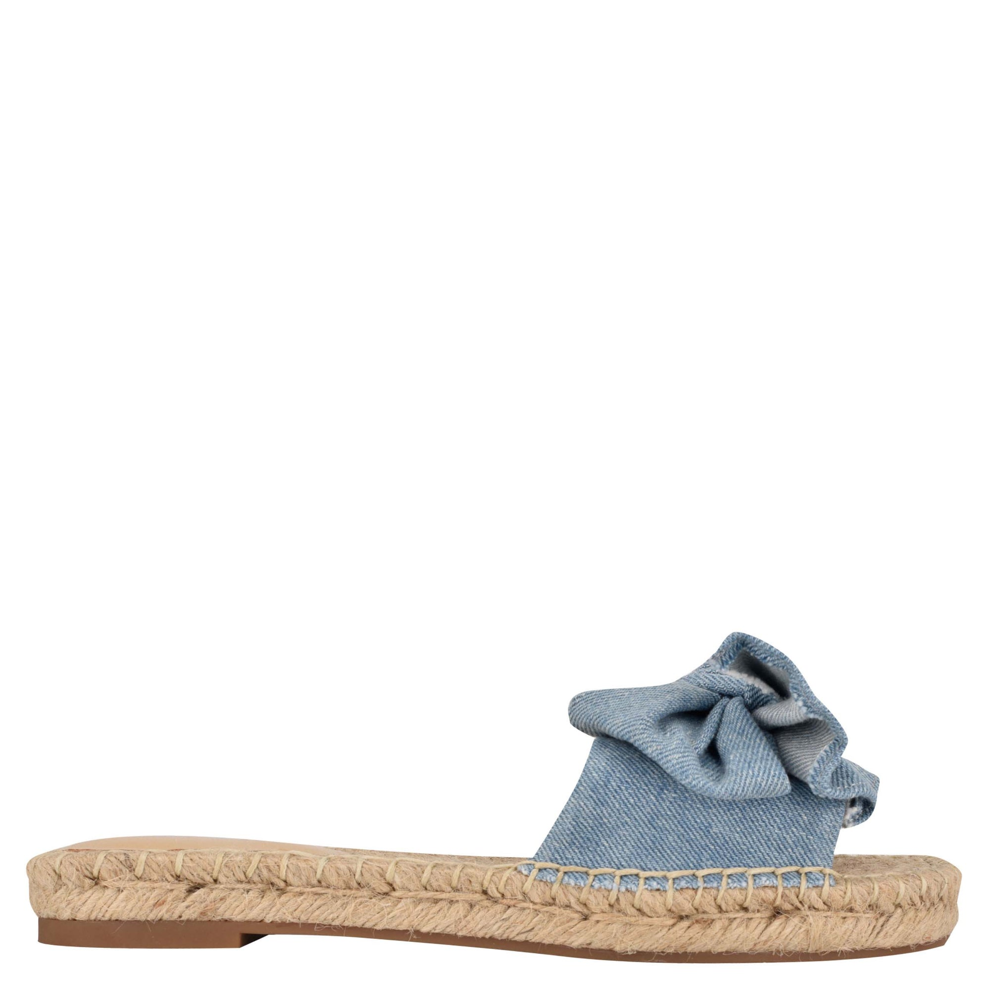 Bow Espadrille Slide Sandals