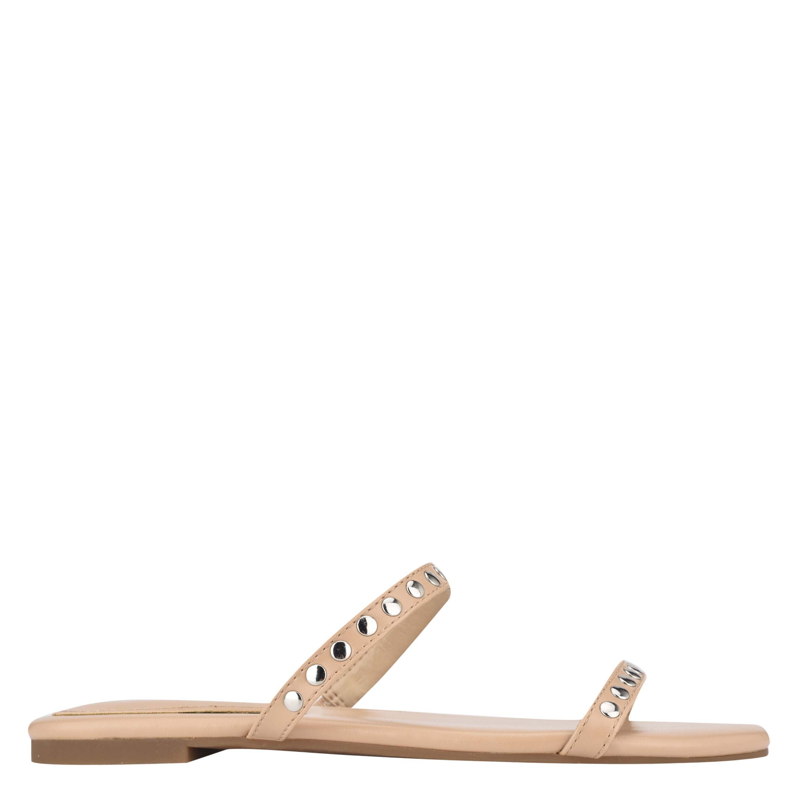 NINEWEST Brandie Flat Studded Slide Sandals